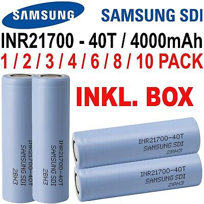 Samsung INR21700-40T Akku 21700 - 4000mAh 35A - 70A - 3,7V E-Zigarette E-Shisha 3.7