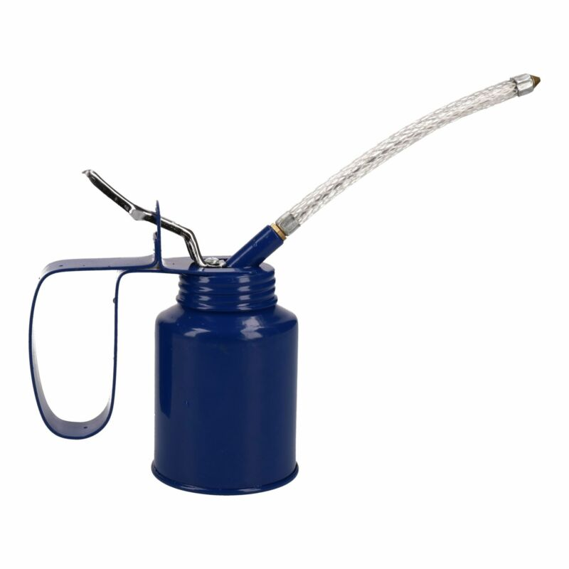 1/4 Pint Oil Lubricant Metal Can with Flexible Spout Thumb Pump Trigger Action