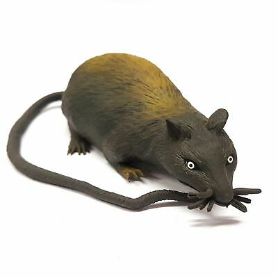 JOKE RUBBER STRECHTY RAT TOY 35CM WITH TAIL CREEPY SCARY PRANK HALLOWEEN RODENT