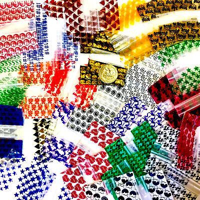 2.5 Mil 2010 2 X 1 Mini Zip Lock Design Bags 1000 Pieces 20 Designs Mixed