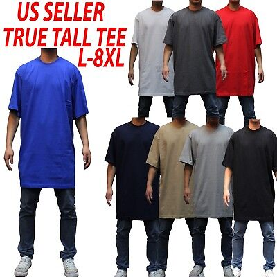 Big and tall tee S/S T-shirts Crew Neck Men Heavy Weight Plain  Solid 8OZ Tall 3 Big And Tall Men Shirts