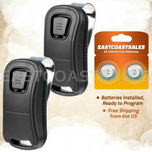 2 For Genie G1T-BX_R Intellicode 1 Button Mini Keychain Garage Door Remote