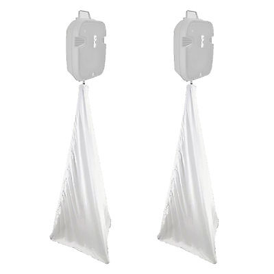 2x Pyle PSCRIM3B White 2 Side Universal DJ Speaker and Light Stands Scrim - Pair