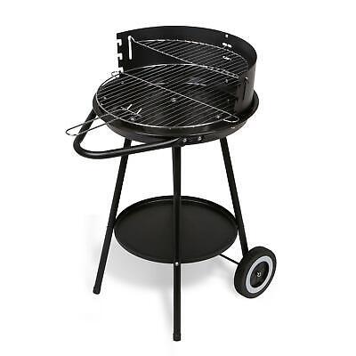 Holzkohlegrill Rundgrill mit Rädern + Ablage + 3fach Grillrost Gartengrill Grill