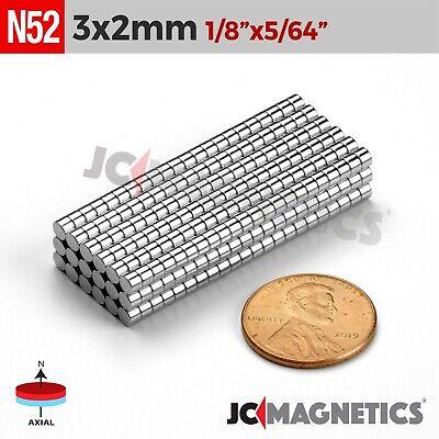 50 100 1000pcs 3mm X 2mm 18x 564 N52 Rare Earth Neodymium Crafts Magnet Disc