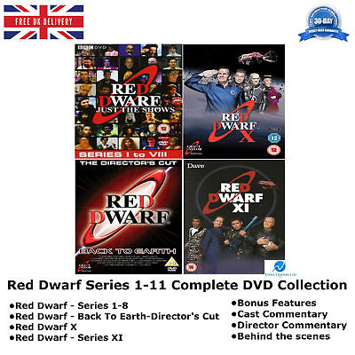 Red Dwarf Series 1-11 Complete Collection 1 2 3 4 5 6 7 8 9 10 11 NEW UK R2