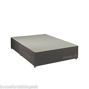 high quality rapyal fabric charcoal divan bed base 2ft6
