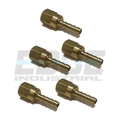 5 Pck 14 Swivel Hose Barb X 14 Female Npt Brass Pipe Fitting Gas Fuel Water