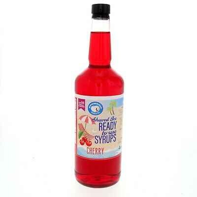 Snow Cone Syrup Or Hawaiian Shaved Ice Ready To Use Cherry 32 Fl. Oz