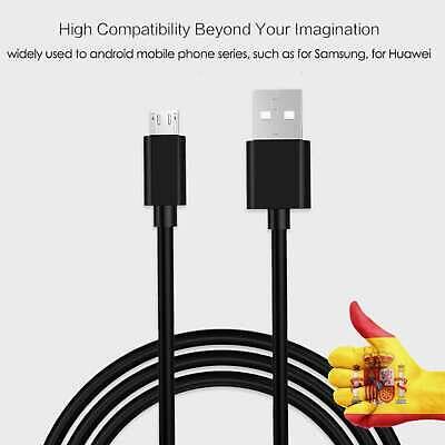 Cable Micro USB 5Pin 1m Cargador Transferencia de Datos Negro Mando PS4...