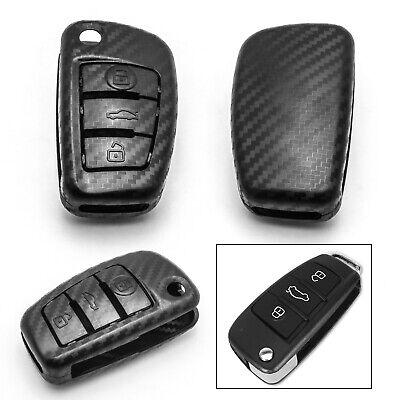 Carbon Fiber Style Remote Key Fob Case Cover For Audi A1 A3 A4 A6 A7 A8 TT Q5 Q7
