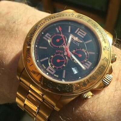 Invicta Speedway 3522 Rose gold Mens Watch - Used