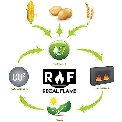 Regal Flame Premium Ventless Bio Ethanol Fireplace Fuel - 36 Quart