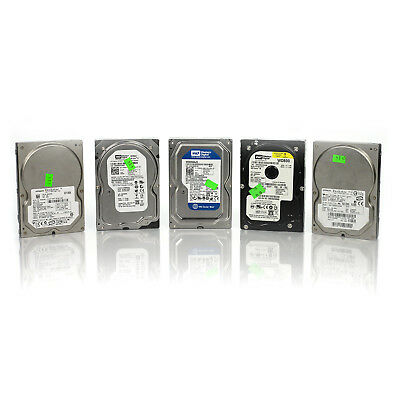 Lot of 5 Assorted Dell HP WD Seagate 80GB 3.5