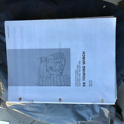 Caterpillar 56 Towing Winch Testing Manual Cat Dozer Nice Senr3191