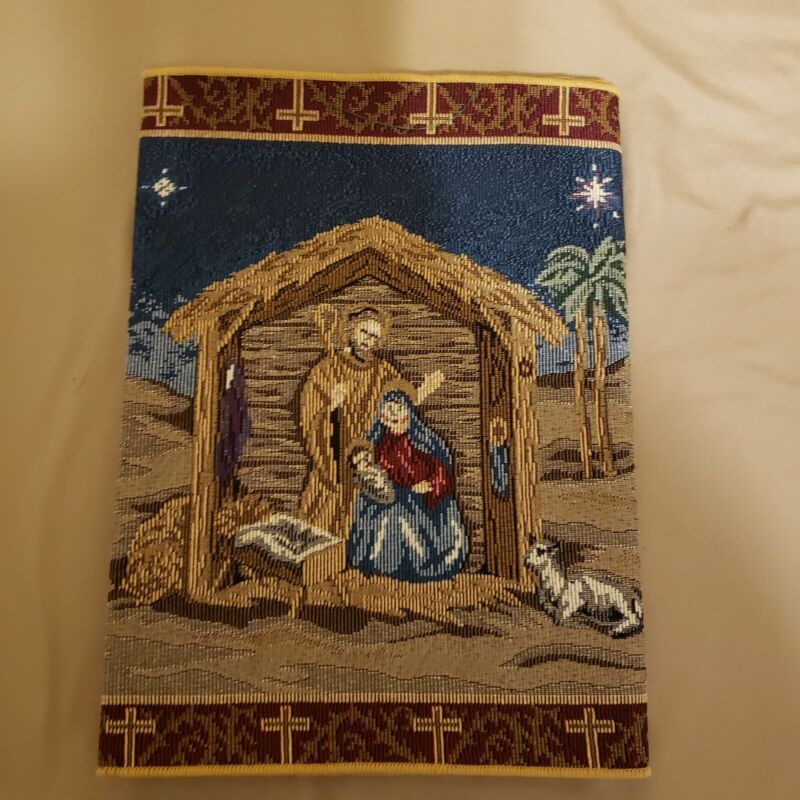 "Nativity Scene Tapestry Table Runner Holy Family Jesus Holiday Christmas 13""×54"""