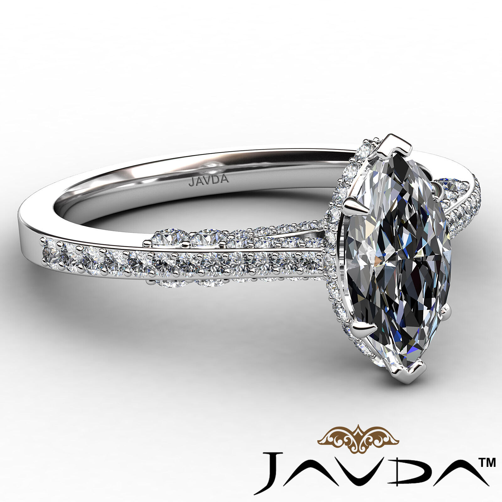 Circa Halo Marquise Diamond Engagement Ring GIA G Color & VVS2 clarity 1.1 ctw 6