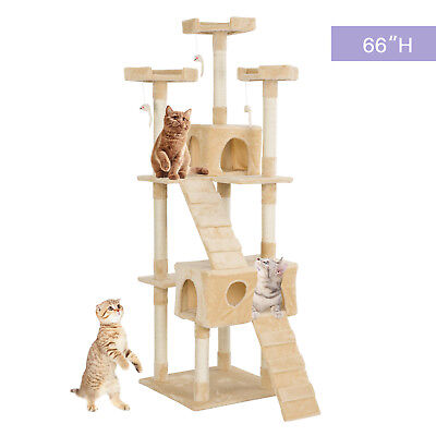 """66"""" Pet Cat Tree Play House Tower Condo Furniture Scratching Post Pet House"""