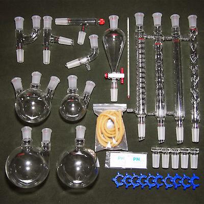 2440new Organic Chemistry Laboratory Glassware Kit32 Pcslab Chemilcal Unit