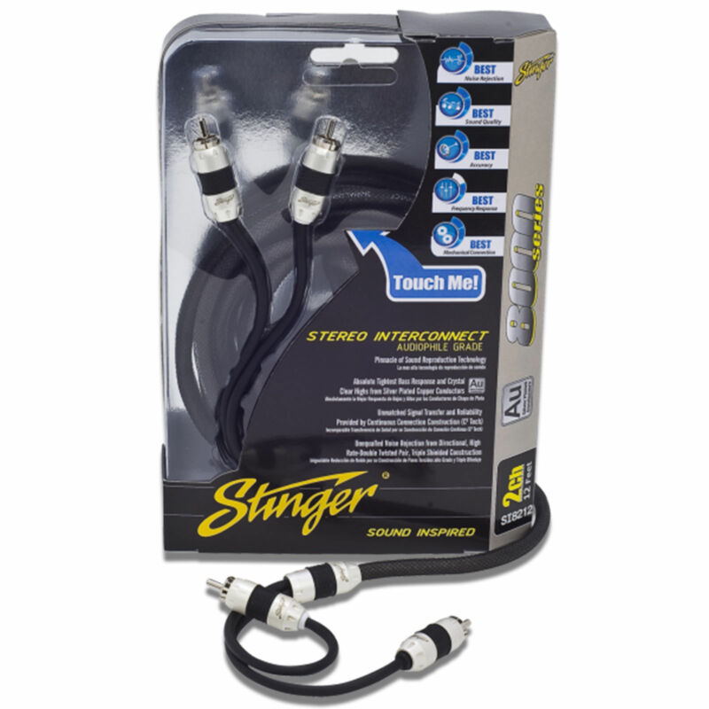 Stinger SI8217 8000 Series 2 Channel Car RCA Interconnect Cable 17