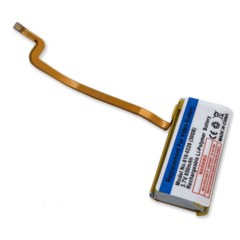 650mAh Replacement Battery for 616-0229 iPod 5th Generation Video 30GB A1136
