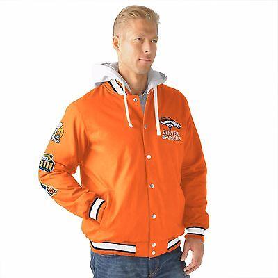 Denver Broncos  Varsity 3 Time Super Bowl Champions Glory Jacket By  G Iii