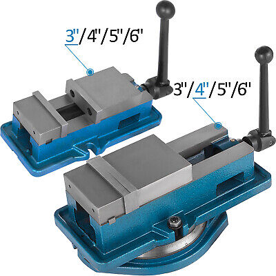 3-6 Bench Clamp Lock Vise Withwithout Swivel Base Hardened Metal Cnc Secure