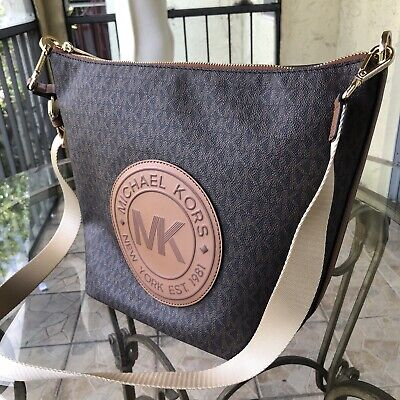Michael Kors Women Crossbody PVC Leather Messenger Bag Handbag Purse Shoulder St