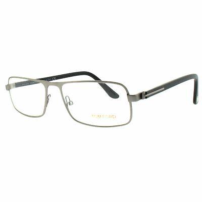 Tom Ford FT5201 013 Silver Full Rim Rectangular Men Optical Frames (Tom Ford Mens Optical Frames)