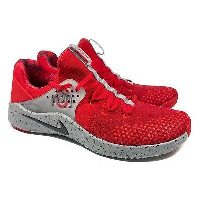 Nike Free TR 8 NCAA Training Shoes Ohio State Buckeyes Red AR0420-600 Mens Sz 10