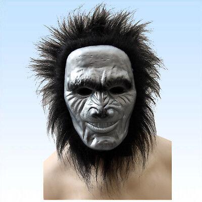 ren Vollmaske  Maske Tier Tiermaske Gorilla Affe Affenmaske (Gorilla Maske)