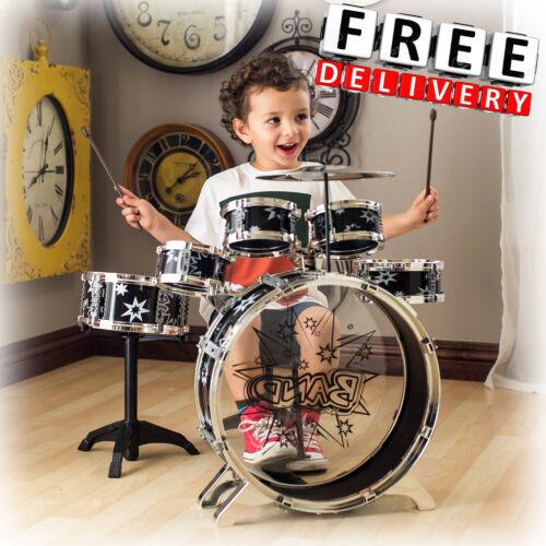 Kid Drum Set 11Pc Bass Tom Cymbal Drumstick Kit Junior Musical Instrument