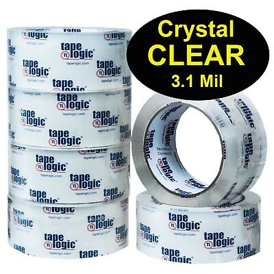 Tape Logic T901310CC Crystal Clear Acrylic Packing Tape 3.1Mil 2