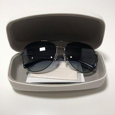 Michael Kors Rodinara Aviator Sunglasses Gunmetal, Blue