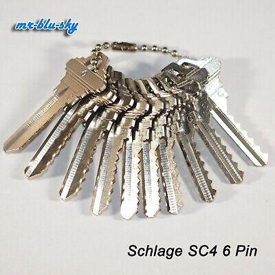 Schlage Lock Sc4 Space Depth Keys Locksmith Code Cutting Key Set