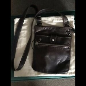 Roots Small Brown Venetian Prince Leather Bag