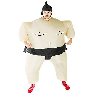 Adult Funny Inflatable Fat Sumo Wrestler Costume Outfit Suit Halloween One Size - Inflatable Sumo Wrestler Halloween Costume