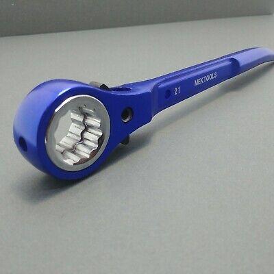 Mek Aluminium Scaffold Spanner Ratchet Podger 1921 Blue