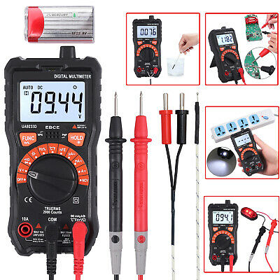 Digital Multimeter True Rms Ncv Acdc Voltage Current Resistance Meter Tester