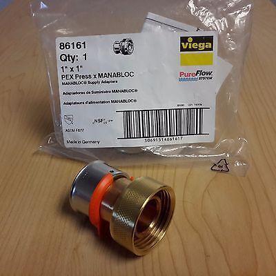 Viega 86161 Pureflow 1 1 Pex Press Manabloc Supply Adapter Made In Germany