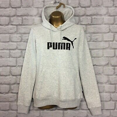 PUMA LADIES CORE GREY LOGO HOODIE HOODY HOODED TOP SWEAT TOP RRP £45