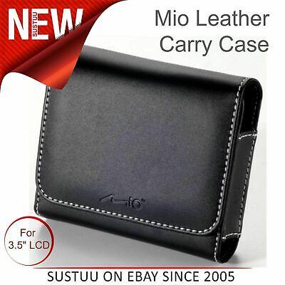 Mio Deluxe GPS SATNAV Universal Premium Quality Leather Carry Case│For 3.5