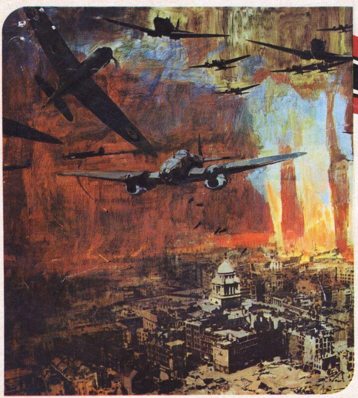 THE BATTLE OF BRITAIN original rare movie poster RAF SPITFIRES/MILITARY AVIATION