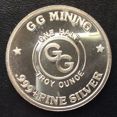GG Mining Silver Eagle Fractional Silver Proof Art Medal A4334