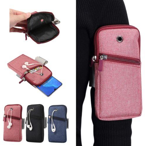 Adjustable Arm Strap Running Sport Zip Wallet Thin Case Fr i