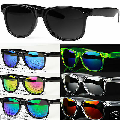 New Square Plastic  Mens Womens Classic & Mirror Sunglasses Vintage Retro UV400