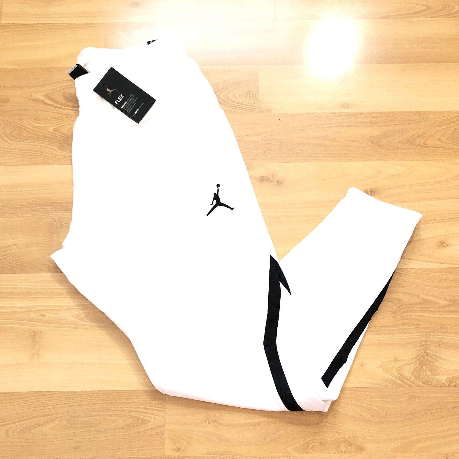 Jordan Alpha Gym Training Pants Black White Taper Leg  Size
