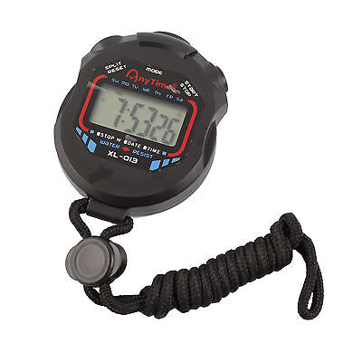 Stop Watch LCD Digital Stopwatch Professional Chronograph Timer Counter Sports
