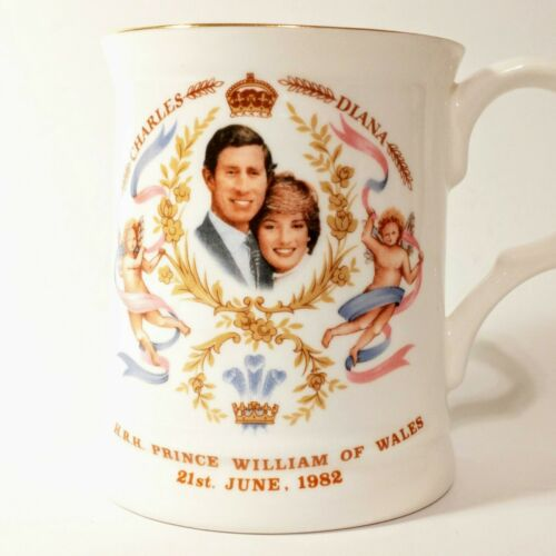 Prince Charles & Diana commemorative cup celebrating the birth of Prince William