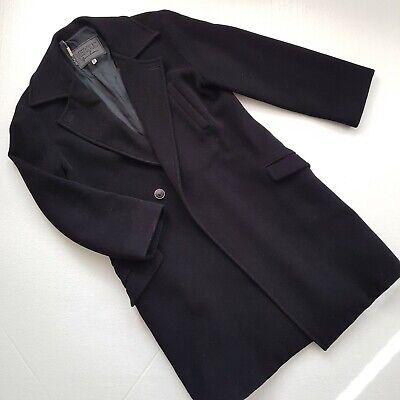 Women's Vintage Versus Gianni Versace Black Wool Coat Size 28/42